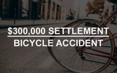 Greenblatt & Veliev obtained a $300,000 Settlement for a Bicycle Accident