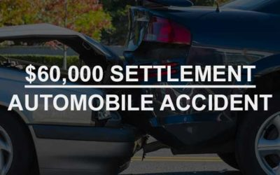 $60,000 Settlement: Automobile Accident